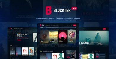 قالب Blockter - قالب وردپرس فیلم و تلویزیون
