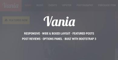 قالب Vania - قالب وردپرس خبری