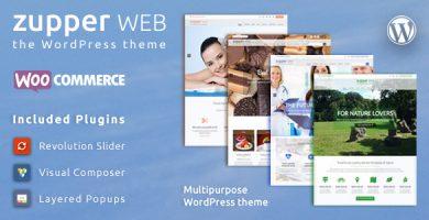 Zupper web - قالب فروشگاهی وردپرس چند منظوره