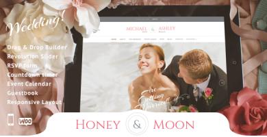 قالب Honeymoon - قالب وردپرس خدمات عروسی