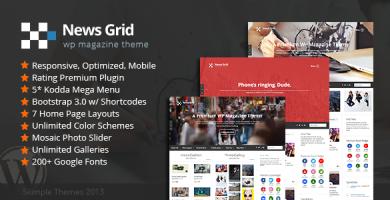 قالب News Grid - قالب وردپرس مجله