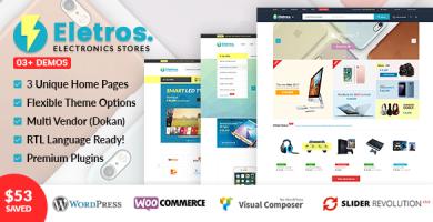 VG Eletros - قالب فروشگاه الکترونیک وردپرس