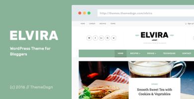 قالب Elvira - قالب وردپرس برای وبلاگ نویسان