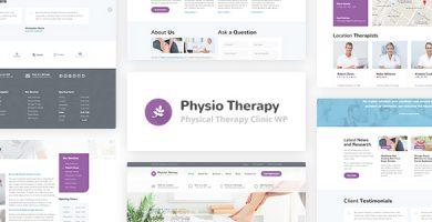 قالب Physio - قالب وردپرس فیزیوتراپی و کلینیک پزشکی