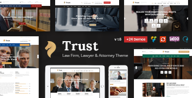 Trust Business - قالب وردپرس وکیل و دادستان