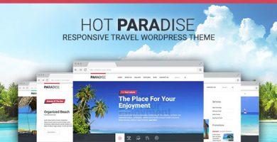 قالب Hot Paradise - قالب وردپرس مسافرت و گردشگری