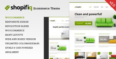 قالب Shopifiq - قالب فروشگاهی وردپرس