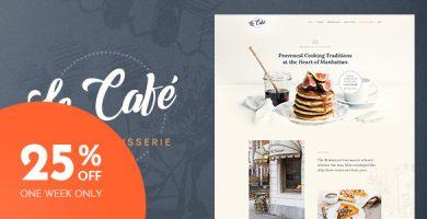 قالب Le Cafe - قالب وردپرس نانوایی و کافی شاپ