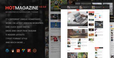 قالب Hotmagazine - قالب وردپرس خبری و مجله