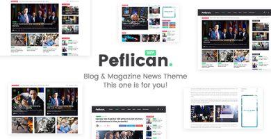 قالب Peflican - قالب وردپرس روزنامه و مجله