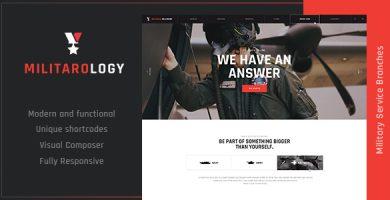 قالب Militarology - قالب وردپرس خدمات نظامی