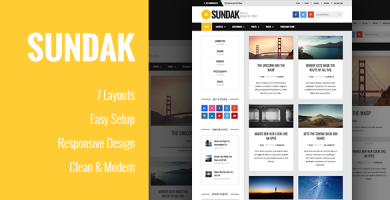 قالب Sundak - قالب مجله و وبلاگ