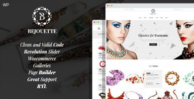 قالب Bejouette - قالب وردپرس سایت طراح جواهرات