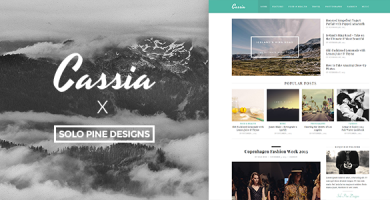 قالب Cassia - قالب وبلاگ وردپرس
