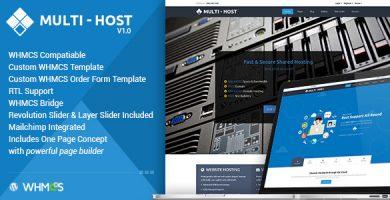 قالب مولتی هاست | Multi Hosting - قالب وردپرس هاستینگ و سرور