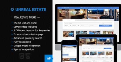 قالب Unreal Estate - قالب وردپرس املاک