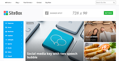 قالب SiteBox - قالب ریسپانسیو مجله برای وردپرس