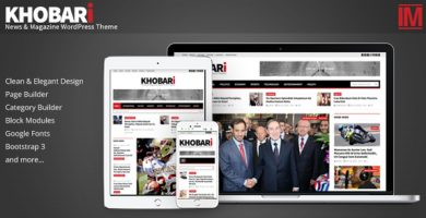 قالب Khobari - قالب وردپرس خبری و مجله