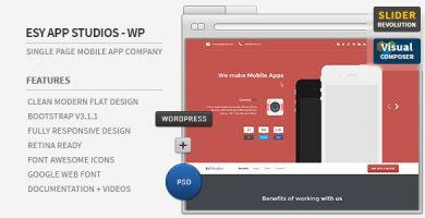 قالب ایزی اپ | Esy App - قالب وردپرس تک صفحه ای
