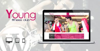 قالب Young Fitness - قالب وردپرس تناسب اندام و اسپا