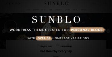 قالب Sunblo - قالب وبلاگ وردپرس ریسپانسیو