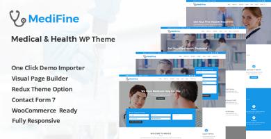 قالب MediFine - قالب سلامتی و پزشکی وردپرس