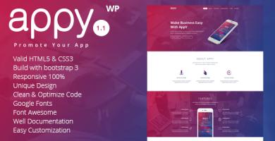 قالب appy - قالب وردپرس فرود اپلیکیشن