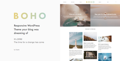 قالب Boho - قالب وبلاگ وردپرس