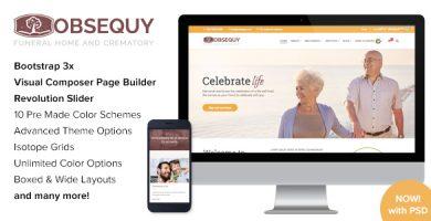 قالب Obsequy - قالب وردپرس خدمات خاکسپاری