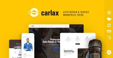 قالب Carlax - قالب وردپرس فروشگاه قطعات و سرویس خودرو