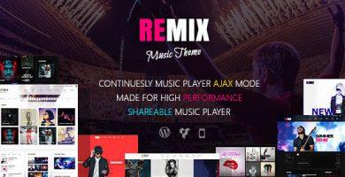 قالب Remix Music - قالب سایت گروه موسیقی