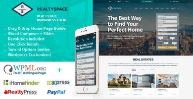 قالب Realtyspace - قالب وردپرس املاک