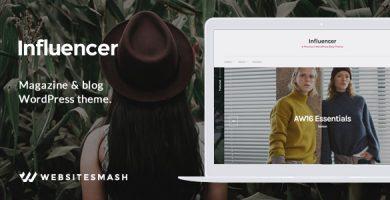 قالب Influencer - قالب وردپرس مجله و وبلاگ