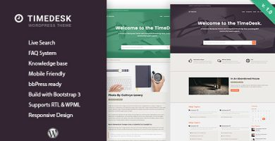 قالب TimeDesk - قالب وردپرس پرسش و پاسخ و پایگاه دانش