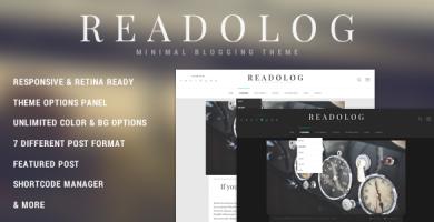 قالب Readolog - قالب وبلاگی مینیمال