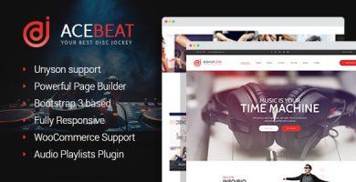 قالب AceBeat - قالب وردپرس صفحه شخصی دیجی