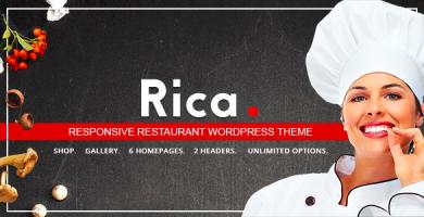 قالب Rica - قالب وردپرس رستوران