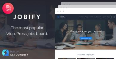 قالب جابفای | Jobify - قالب وردپرس استخدام و کاریابی