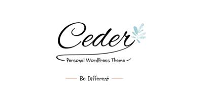 قالب Ceder - قالب وبلاگ وردپرس شخصی