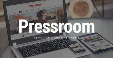 قالب Pressroom - قالب وردپرس خبری و مجله