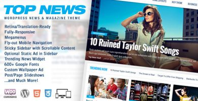 قالب Top News - قالب خبری و مجله وردپرس
