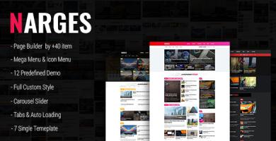 قالب Narges - قالب وردپرس وبلاگ و مجله