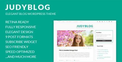 قالب JudyBlog - قالب وردپرس بلاگ زیبا