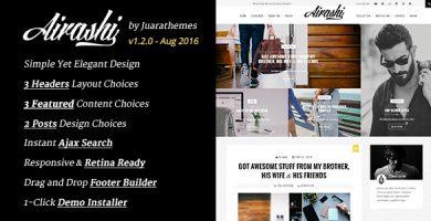 قالب Airashi - قالب وردپرس وبلاگ شخصی