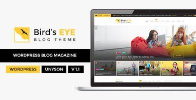 قالب Birds Eye - قالب وبلاگ وردپرس