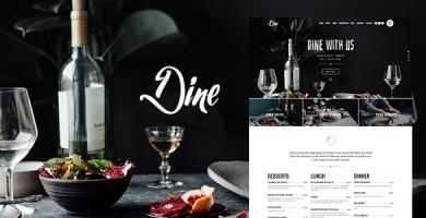 قالب Dine - قالب وردپرس رستوران