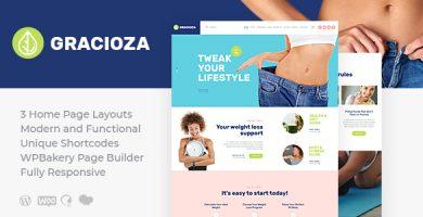 قالب Gracioza - قالب وردپرس مجله کاهش وزن