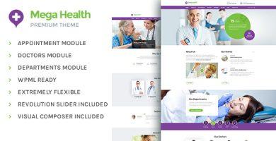 قالب Mega Health - قالب وردپرس پزشکی برای مراکز سلامتی