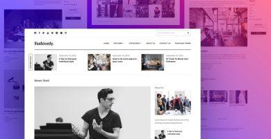 قالب Fashionly - قالب وبلاگ وردپرس ریسپانسیو
