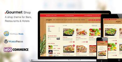 قالب Gourmet Shop - قالب وردپرس رستوران